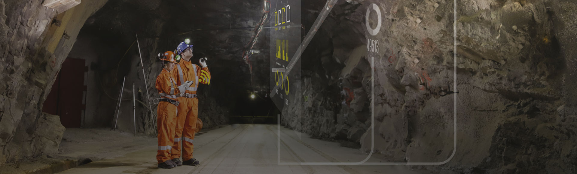 Two Hatch advisory team members providing business transformation and improvement advisory services in a digital mine to improve performance and create sustainable value.