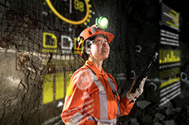 A Hatch advisory employee analyzing data, providing insights, and developing recommendations to help the client create sustained shareholder value in the digital mine.