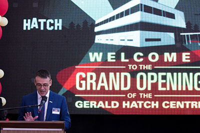 Hatch CEO John Bianchini delivers speech about the importance of experimental learning in engineering education.