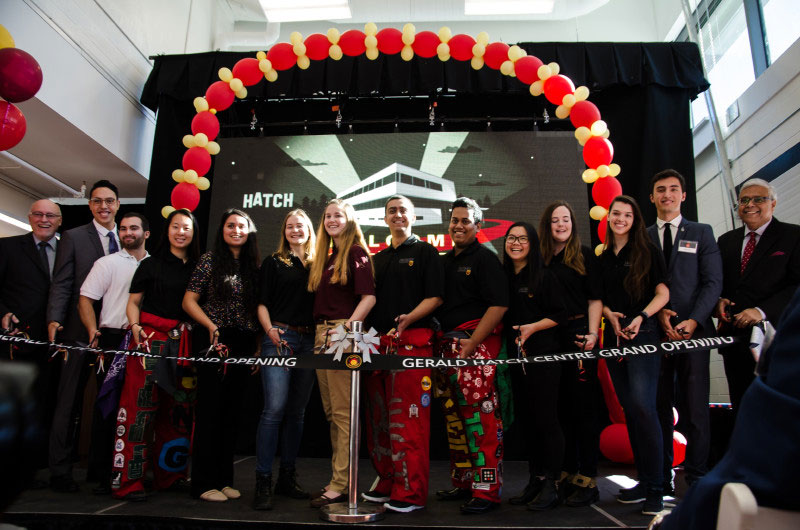 Ribbon Cutting at McMaster University