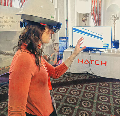 Attendees of the Saskatchewan Technology Day had the opportunity to experience an immersive visual approach through Hatch's virtual reality offering.