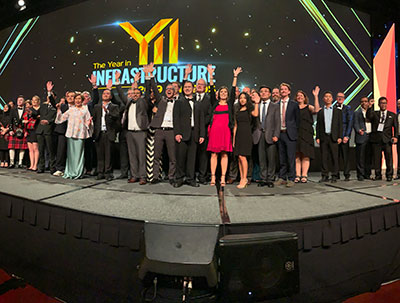 Le gala de remise des prix The Year in Infrastructure 2019 de Bentley a eu lieu à Singapour le 24 octobre 2019.