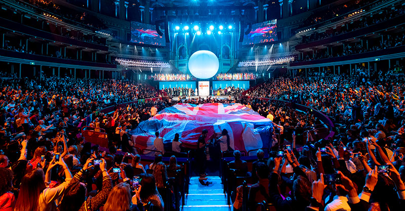 One Young World 2019's Opening Ceremony at the Royal Albert Hall in London, UK