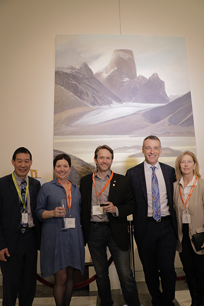 From left: Glenn Sakaki, Hatch's global director of Marketing and Communications and curator of the Hatch Gallery of Contemporary Art; Katia Bianchini; Cory Trépanier, artist; John Bianchini, Hatch's chairman and CEO; and Janet Trépanier.
