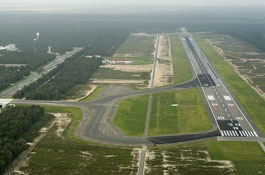 New runway at Cancun International Airport