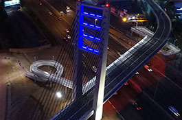 Sandton Rea Vaya Bus Rapid Transit Bridge South Africa