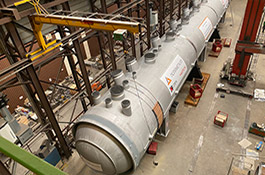 Overview of Amursk autoclave vessel during preparation for shipping